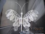 Бабочка филигрань серебряная нить ручная работа, фото №3
