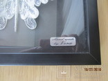 Бабочка филигрань серебряная нить ручная работа, фото №4
