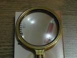 Лупа просмотровая металлический корпус увеличение 6 крат,диаметр 80 мм, фото №2