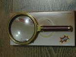 Лупа просмотровая металлический корпус увеличение 6 крат,диаметр 80 мм, фото №3