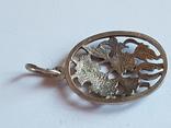 Советский кулон. Серебро 875 проба. Вес 4 г., фото №8