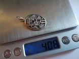 Советский кулон. Серебро 875 проба. Вес 4 г., фото №11