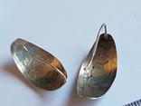 Советские серьги. Кубачи. Серебро 875 проба., фото №5