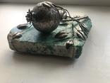 Гранат из серебра на камне амазонит, авторская работа, фото №8