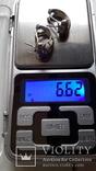 Серьги серебро эмаль, фото №6