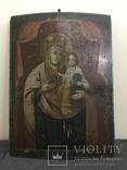 19 век, Украинская домашняя икона. Богородица., фото №2