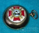Часы карманные Молния 80 лет транспортная милиция россии (редкие), фото №2