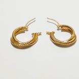 Золотые серьги-колечки, фото №4