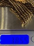 Золотистый новый браслет с Англии 38 грамм, фото №7