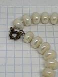 Белые винтажные бусы, фото №5