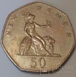 Велика Британія 50 нових пенсів, 1980 фото 2