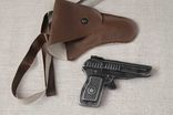 Игрушечный пистолет под пистоны Макорова с кобурой СССР, фото №2