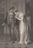 """Старинная гравюра. Шекспир. """"Генрих VI, часть вторая"""", акт III. 1803 год. (43 на 33 см.)."""