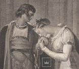 """Старинная гравюра. Шекспир. """"Генрих VI, часть вторая"""", акт III. 1803 год. (43 на 33 см.). фото 2"""