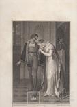 """Старинная гравюра. Шекспир. """"Генрих VI, часть вторая"""", акт III. 1803 год. (43 на 33 см.). фото 7"""