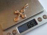 Крест нательный серебро 925. Вес 6.54 г., фото №8
