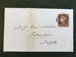 Красный пенни на письме Великобритании, фото №2