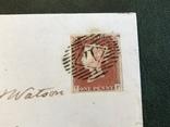 Красный пенни на письме Великобритании, фото №3