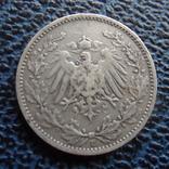 1/2 марки 1906 Германия Е серебро (,11.6.18), фото №3