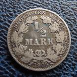 1/2 марки 1905 Германия А серебро (,11.6.19), фото №2