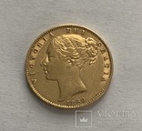 1 sovereign 1866 року (rev. shield), фото №2