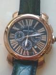 Часы наручные Зеленый браслет под золото, фото №2
