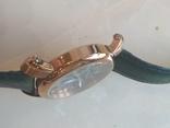 Часы наручные Зеленый браслет под золото, фото №6