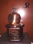 Кофемолка коллекционная дерево медь, фото №2