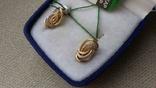 Серьги, золото 585 вставки цирконы., фото №4