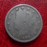 5 центов 1908 США   (,12.1.19)~, фото №2