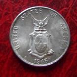 10 сентаво 1945 Филиппины серебро  (,12.1.29)~, фото №3