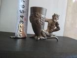 Рюмка черт чертик Фавн клеймо металл, фото №12
