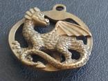 Дракон Грифон коллекционная миниатюра брелок кулон бронза, фото №5