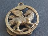 Дракон Грифон коллекционная миниатюра брелок кулон бронза, фото №7