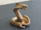 Змея кобра гадюка коллекционная миниатюра бронза, фото №4