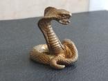 Змея кобра гадюка коллекционная миниатюра бронза, фото №5