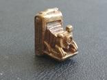 Фотокамера старинная бронза брелок коллекционная миниатюра, фото №4