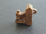 Фотокамера старинная бронза брелок коллекционная миниатюра, фото №5