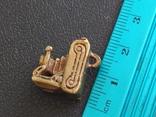 Фотокамера старинная бронза брелок коллекционная миниатюра, фото №8