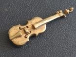 Скрипка бронза коллекционная миниатюра, фото №2