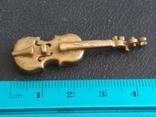 Скрипка бронза коллекционная миниатюра, фото №7