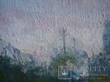 """Картина """"Речной пейзаж"""" холст,масло 42,5/29,5см., фото №3"""