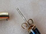 Серебряные серьги-кольца с эмалями, фото №8
