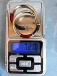 Серебряные серьги-кольца с эмалями, фото №10