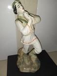 Статуэтка Лель Гуцул с сопилкой фарфор СССР реставрация, фото №3