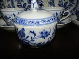 Сервиз тарелки чашки блюдца сахарница молочник синий лук Zwiebelmuster клеймо Германия, фото №6