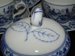 Сервиз тарелки чашки блюдца сахарница молочник синий лук Zwiebelmuster клеймо Германия, фото №7