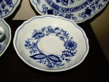 Сервиз тарелки чашки блюдца сахарница молочник синий лук Zwiebelmuster клеймо Германия, фото №11