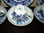 Сервиз тарелки чашки блюдца сахарница молочник синий лук Zwiebelmuster клеймо Германия, фото №13