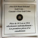 10$ 1914 год Канада золото 16,72 грамма 900', фото №7